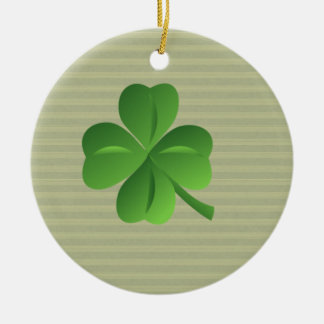 Classy Trendy  Irish Lucky Shamrock Christmas Ornament