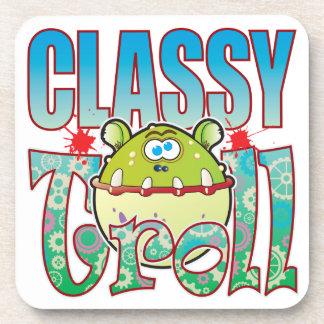Classy Troll Beverage Coaster