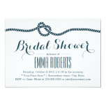 "Classy Tying the Knot Bridal Shower Invitations 5"" X 7"" Invitation Card"