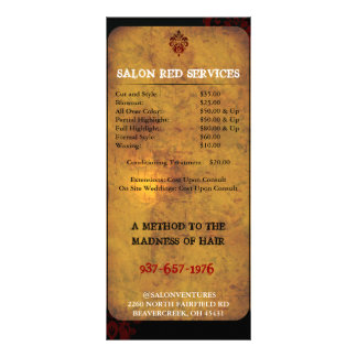 Classy Upscale Modern Business Price Card Full Color Rack Card
