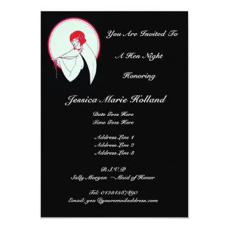 Classy Vintage Flapper ~ Hen Night Announcements