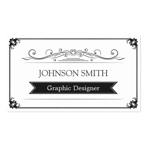 Premium retro vintage business card templates classy vintage frame simple elegant business cards reheart Image collections