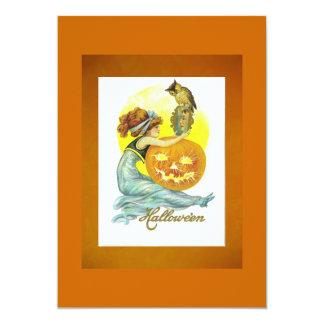 Classy Vintage Halloween Invitation