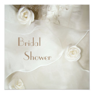 Classy Vintage Wedding Gown Bridal Shower Invites