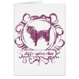 Classy Weathered Affenpinscher Card