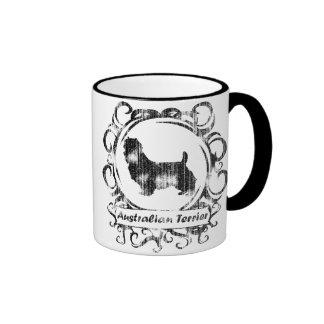 Classy Weathered Australian Terrier Ringer Mug