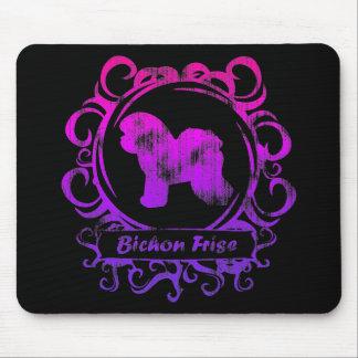 Classy Weathered Bichon Frise Mouse Mat