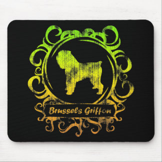 Classy Weathered Brussels Griffon Mouse Pads