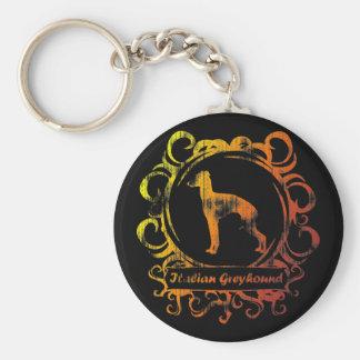 Classy Weathered Italian Greyhound Keychains