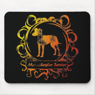 Classy Weathered Manchester Terrier Mouse Mat
