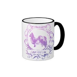 Classy Weathered Papillon Coffee Mug