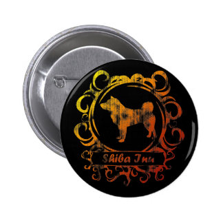 Classy Weathered Shiba Inu 6 Cm Round Badge