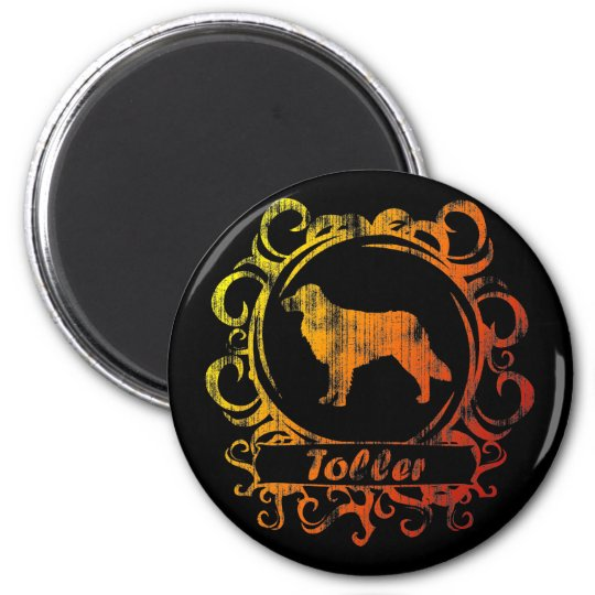 Classy Weathered Toller 6 Cm Round Magnet