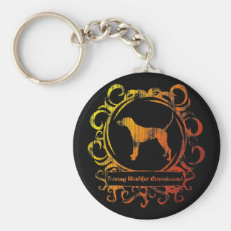 Classy Weathered Treeing Walker Coonhound Key Chains