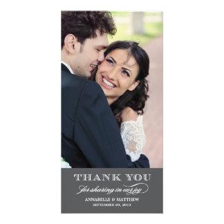 Classy Wedding Thank You Photo Card
