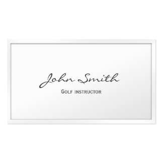 Classy White Border Golf Business Card