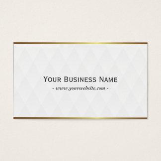 Classy White Diamond Grid Pattern Business Card