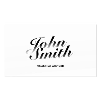 Classy White Financial Advisor Business Card