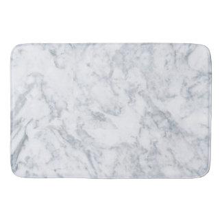 Classy White Marble Look Bath Mat