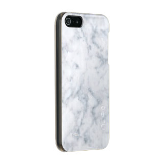 Classy White Marble Look Incipio Feather® Shine iPhone 5 Case