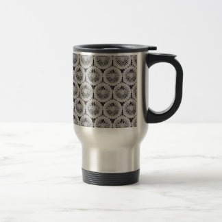 Classy white texture stainless steel travel mug