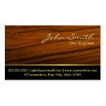 Classy Woodgrain Civil Engineer Business Card