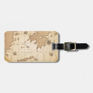 Classy World old map Bag Tag