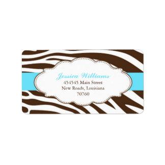 Classy Zebra Address Label