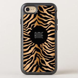 Classy Zebra Stripes Monogram OtterBox Symmetry iPhone 7 Case