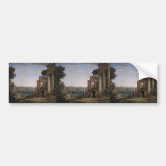 Claude Lorrain- Aeneas and Dido in Carthage Bumper Sticker