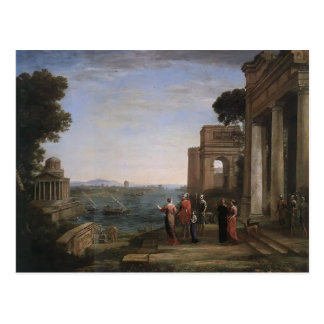 Claude Lorrain- Aeneas and Dido in Carthage Postcard