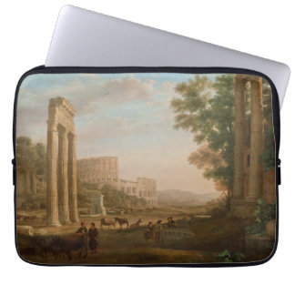 Claude Lorrain - Ruins of the Roman forum Laptop Sleeve