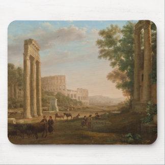 Claude Lorrain - Ruins of the Roman forum Mouse Pad