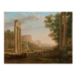 Claude Lorrain - Ruins of the Roman forum Postcard