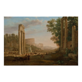 Claude Lorrain - Ruins of the Roman forum Poster