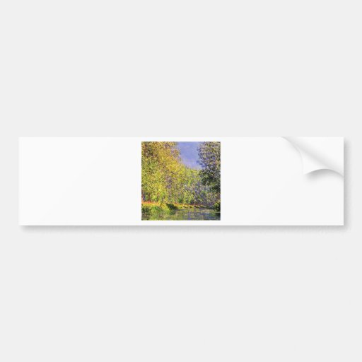 Claude Monet A Bend Of The Epte Bumper Stickers