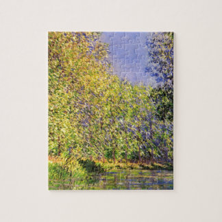 Claude Monet A Bend Of The Epte Jigsaw Puzzle