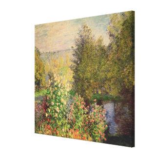 Claude Monet | A Corner of the Garden at Montgeron Canvas Print