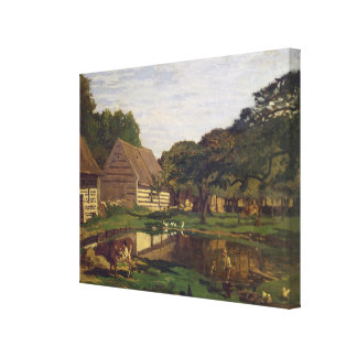 Claude Monet | A Farmyard in Normandy Canvas Print