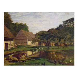 Claude Monet | A Farmyard in Normandy Postcard