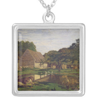 Claude Monet | A Farmyard in Normandy Silver Plated Necklace