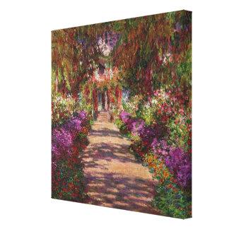 Claude Monet | A Pathway in Monet's Garden Canvas Print