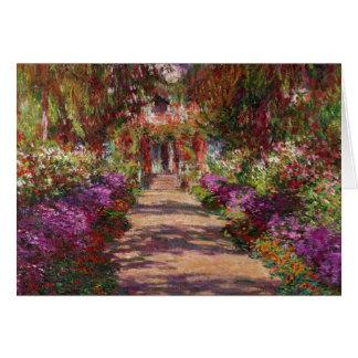 Claude Monet   A Pathway in Monet's Garden Card