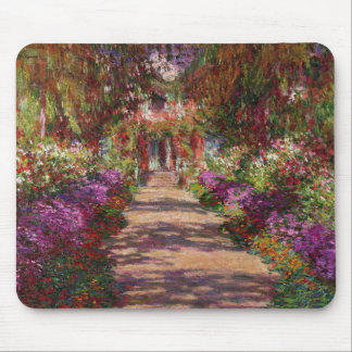 Claude Monet | A Pathway in Monet's Garden Mouse Mat