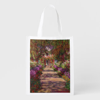 Claude Monet | A Pathway in Monet's Garden Reusable Grocery Bag