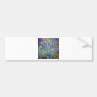Claude Monet Agapanthus Bumper Sticker