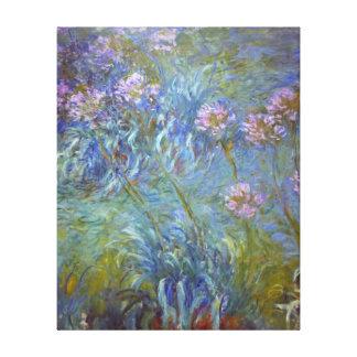 Claude Monet Agapanthus Stretched Canvas Prints