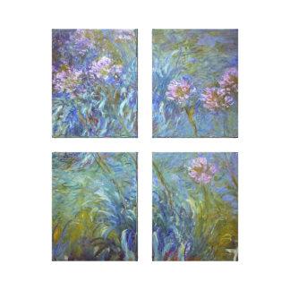 Claude Monet Agapanthus Canvas Print