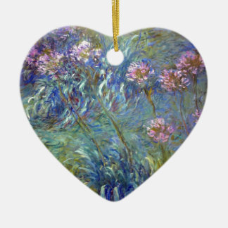 Claude Monet Agapanthus Christmas Ornament