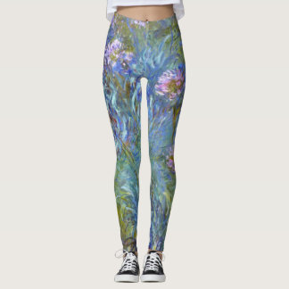 Claude Monet Agapanthus Fine Art Floral GalleryHD Leggings